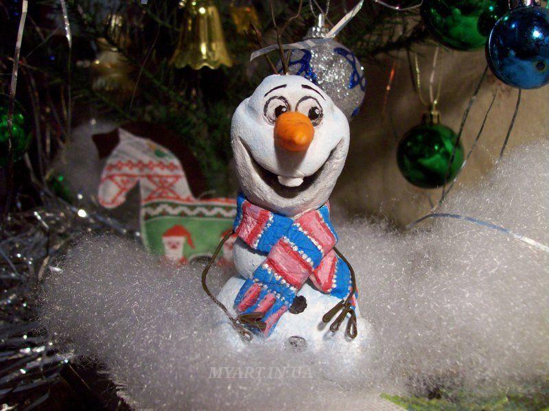 Снеговик из соленого теста своими руками 20